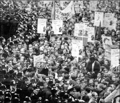 Demonstration mod Vietnamkrigen, London 1968